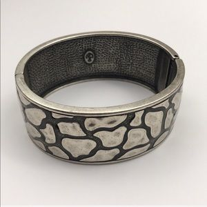 Premier Designs Silver Wide Bangle Bracelet